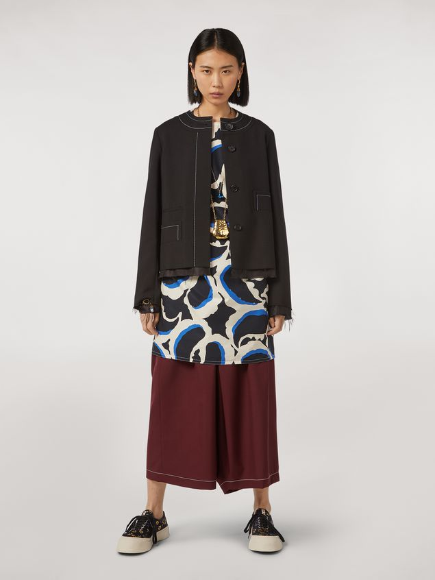 Marni Tropical wool jacket with asymmetrical pockets Woman - 1