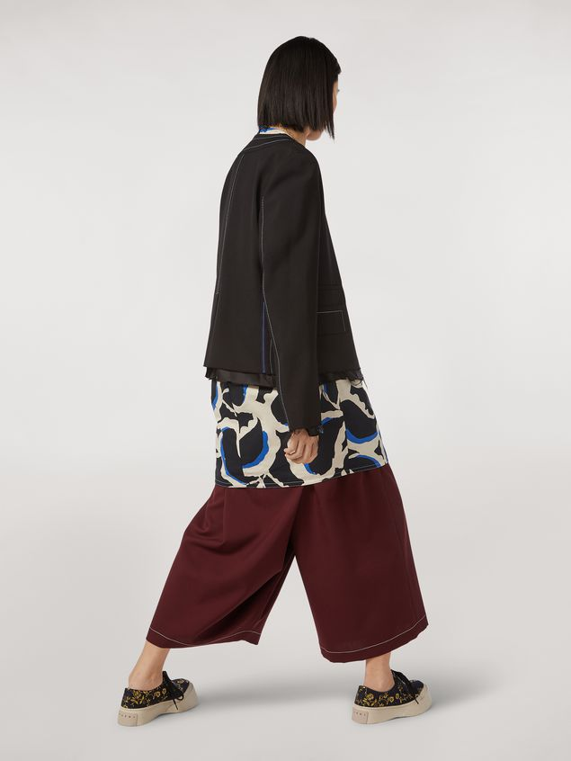 Marni Tropical wool jacket with asymmetrical pockets Woman - 3