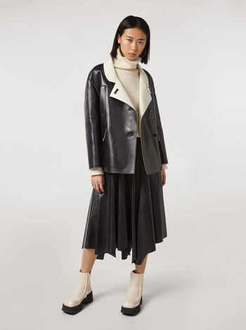 Marni Jacket in nappa stone lambskin Woman