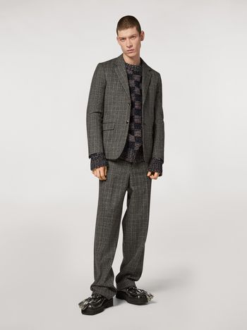 Marni Wool micro-check jacket Man f