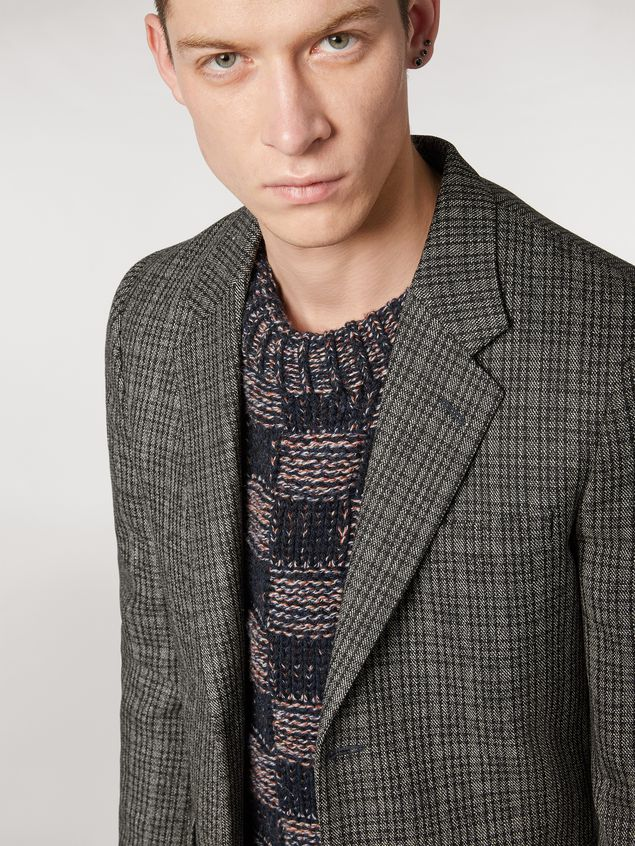 Marni Wool micro-check jacket Man - 4