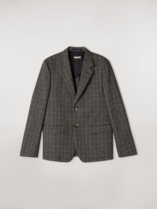 Marni Wool micro-check jacket Man - 2