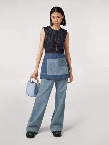Marni Tunic in indigo denim drill Woman