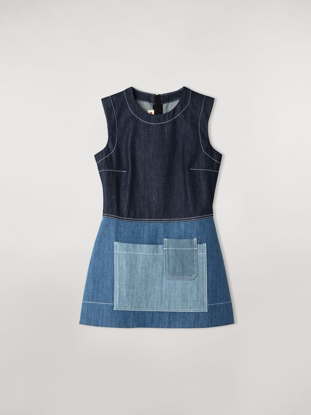 Marni Tunic in indigo denim drill Woman - 2
