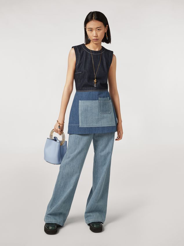 Marni Tunic in indigo denim drill Woman - 1