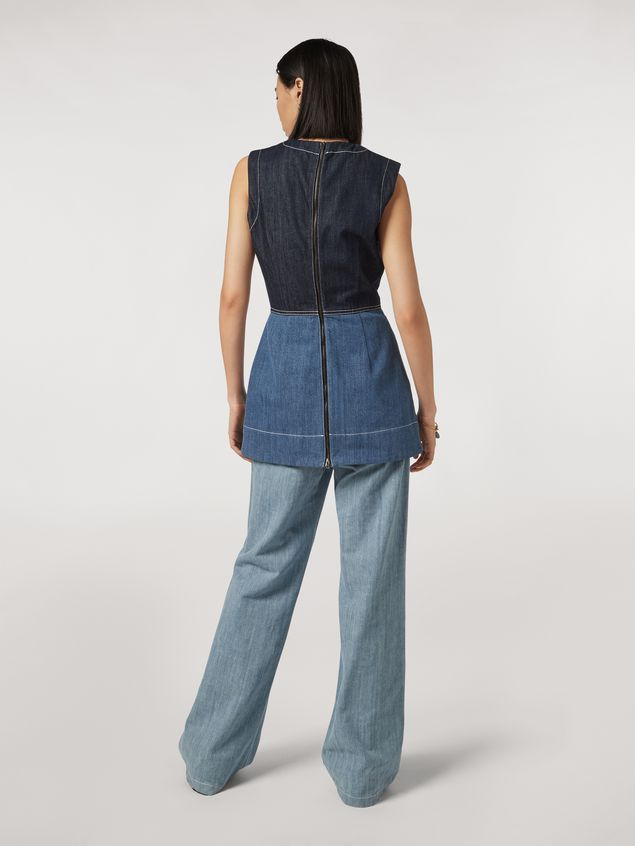 Marni Tunic in indigo denim drill Woman - 3
