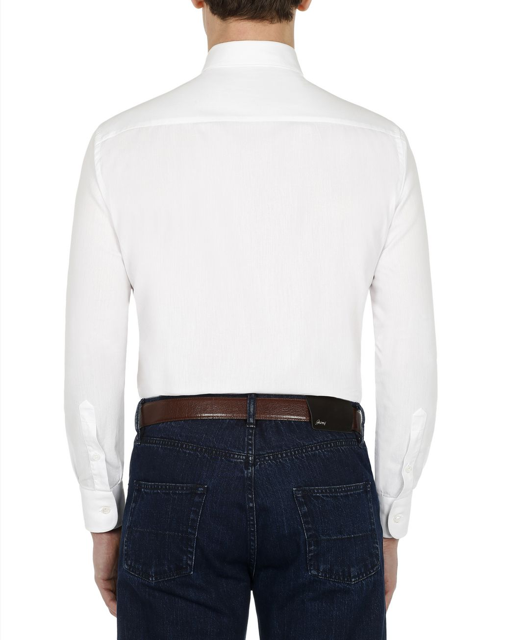 BRIONI White Shirt Leisure shirt Man d