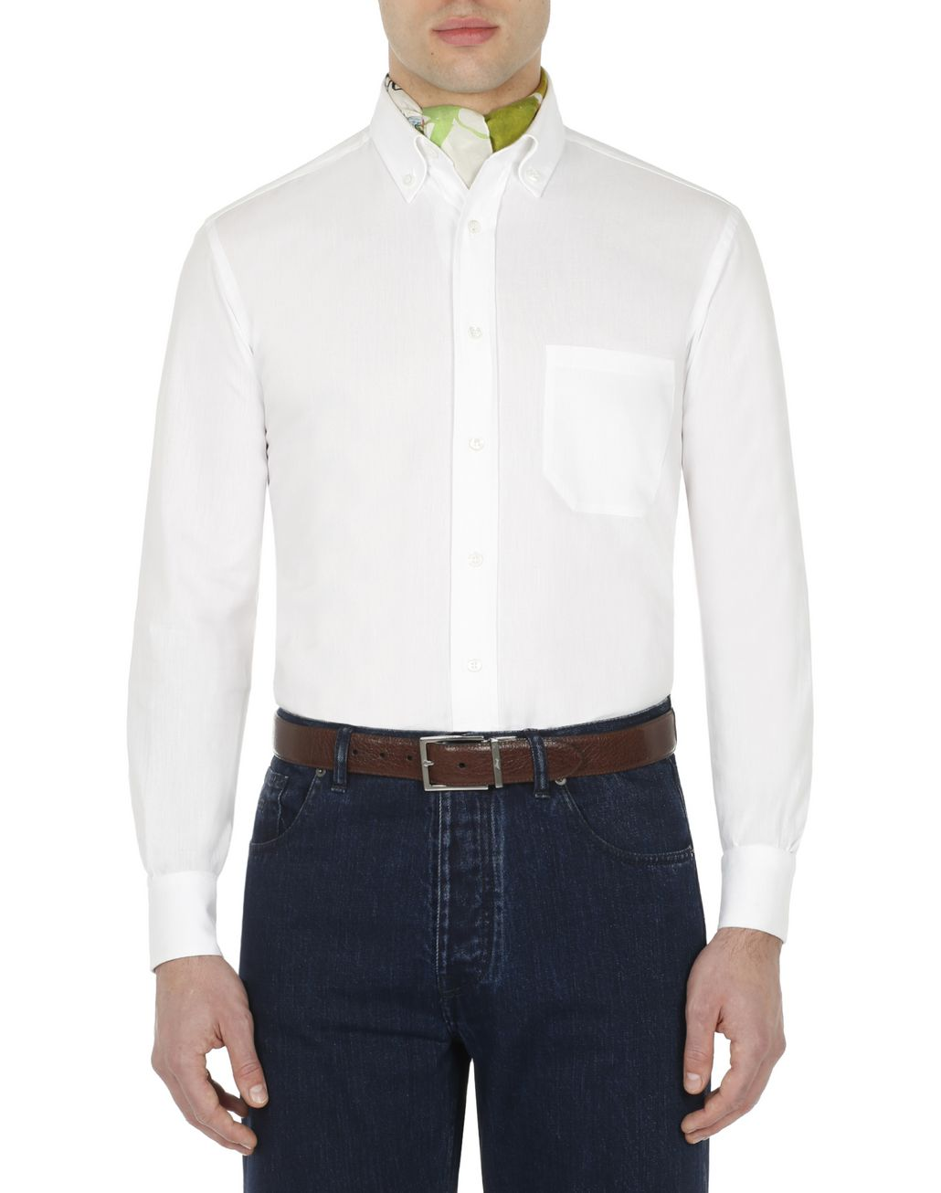 BRIONI White Shirt Leisure shirt Man r