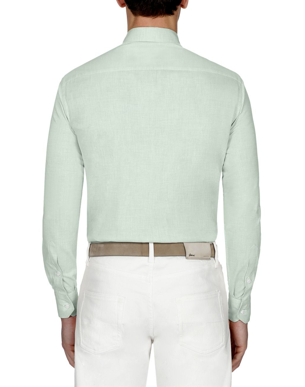 BRIONI Green Cotton Shirt Leisure shirt Man d