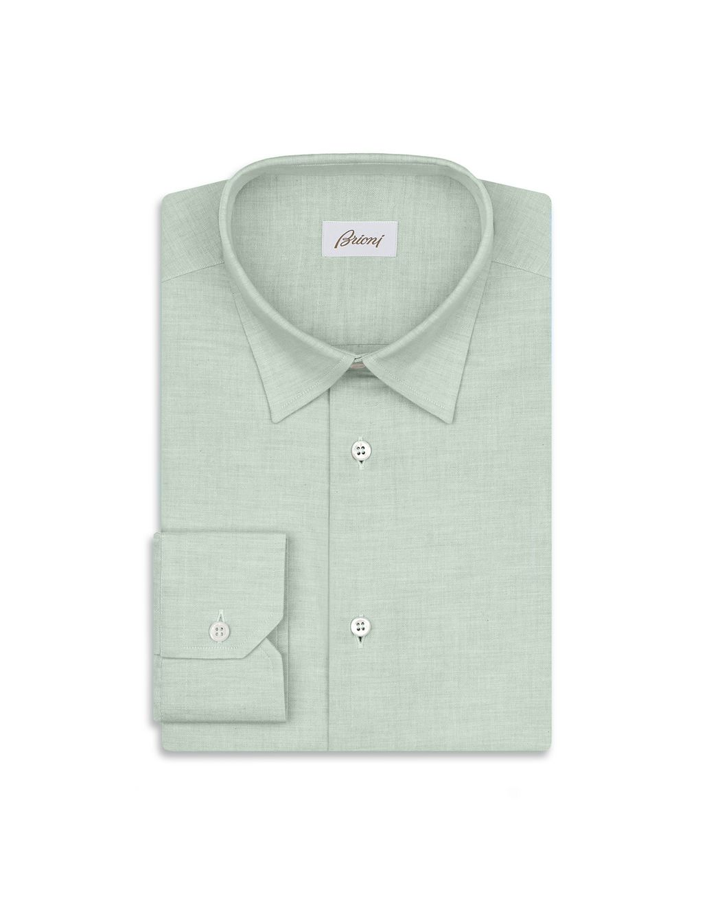 BRIONI Green Cotton Shirt Leisure shirt Man f