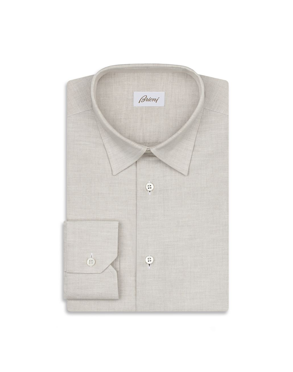 BRIONI Beige Cotton Shirt Leisure shirt Man f