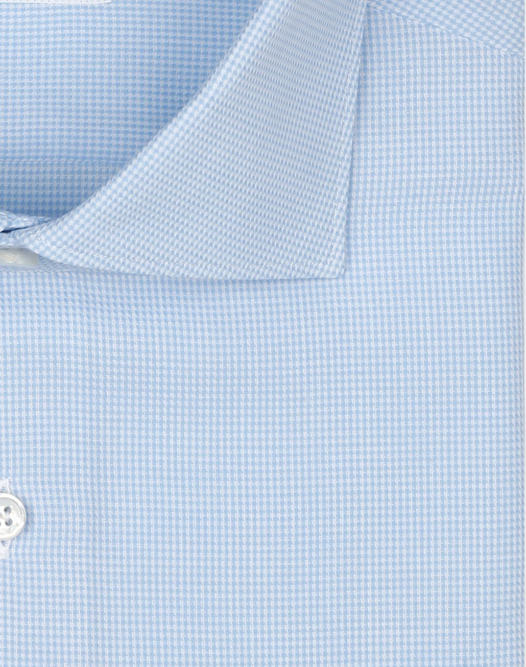 BRIONI Light Blue Houndstood Shirt Shirt Man e
