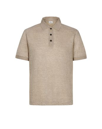 Beige Linen Polo Shirt