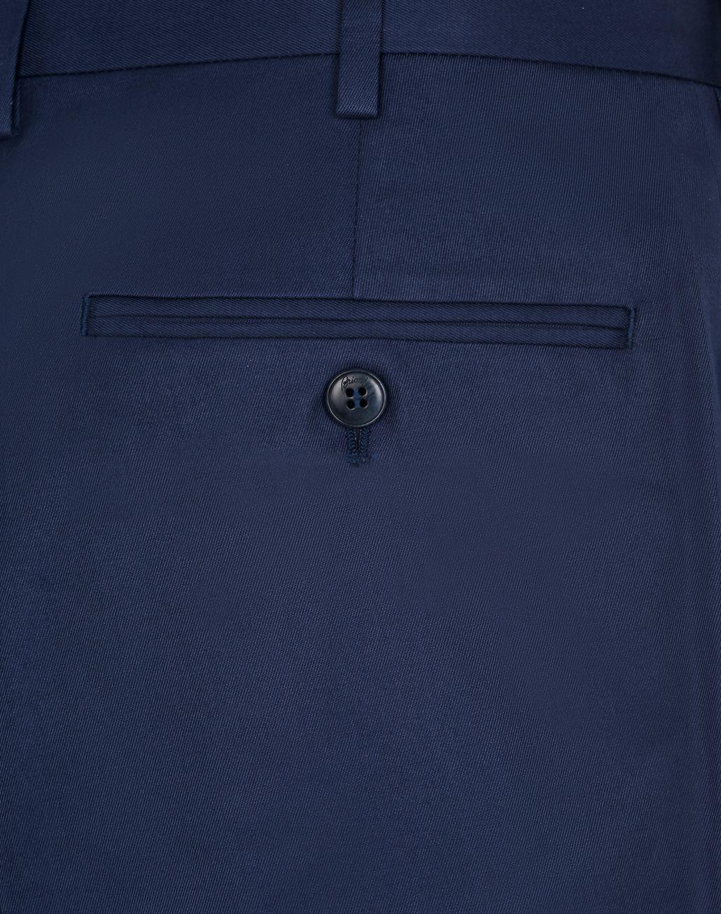 BRIONI Navy Blue Short Trousers Trousers Man e