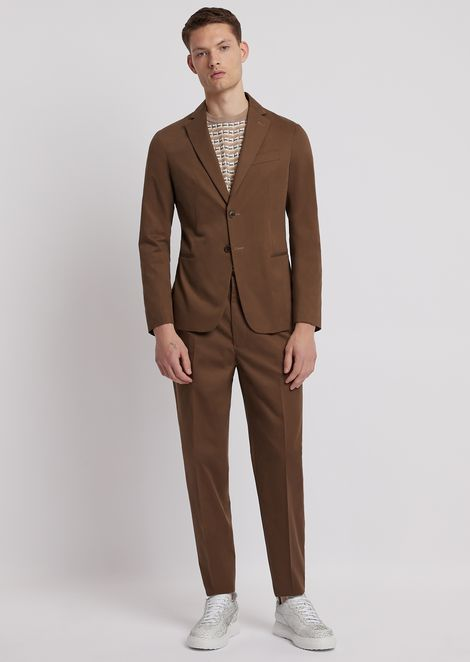 ceac8ca0c Single-breasted, modern-fit suit in cotton
