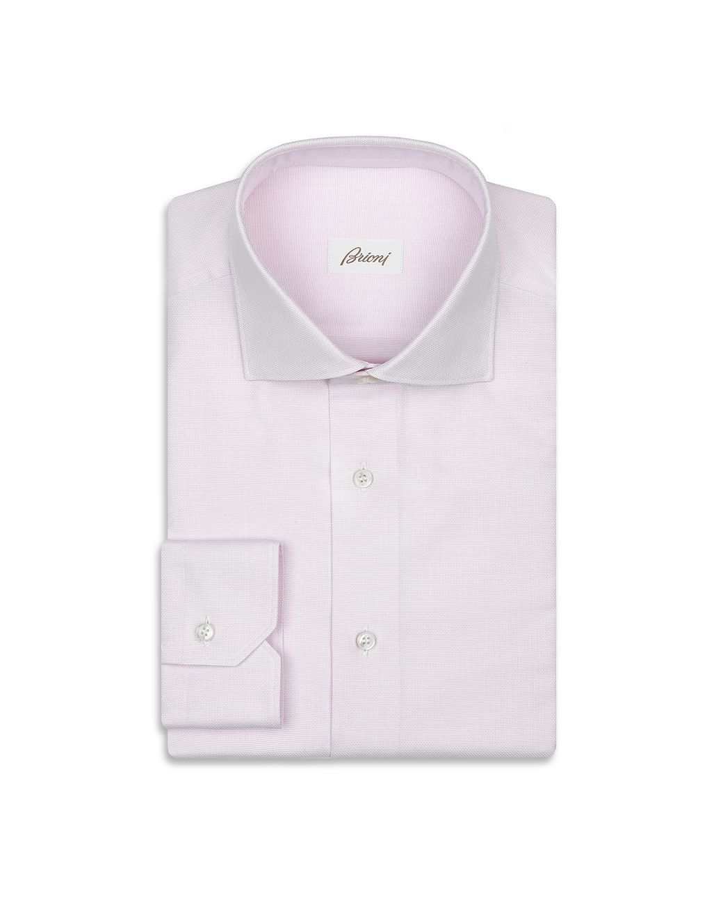 BRIONI Pink Micro Design Formal Shirt Formal shirt Man f