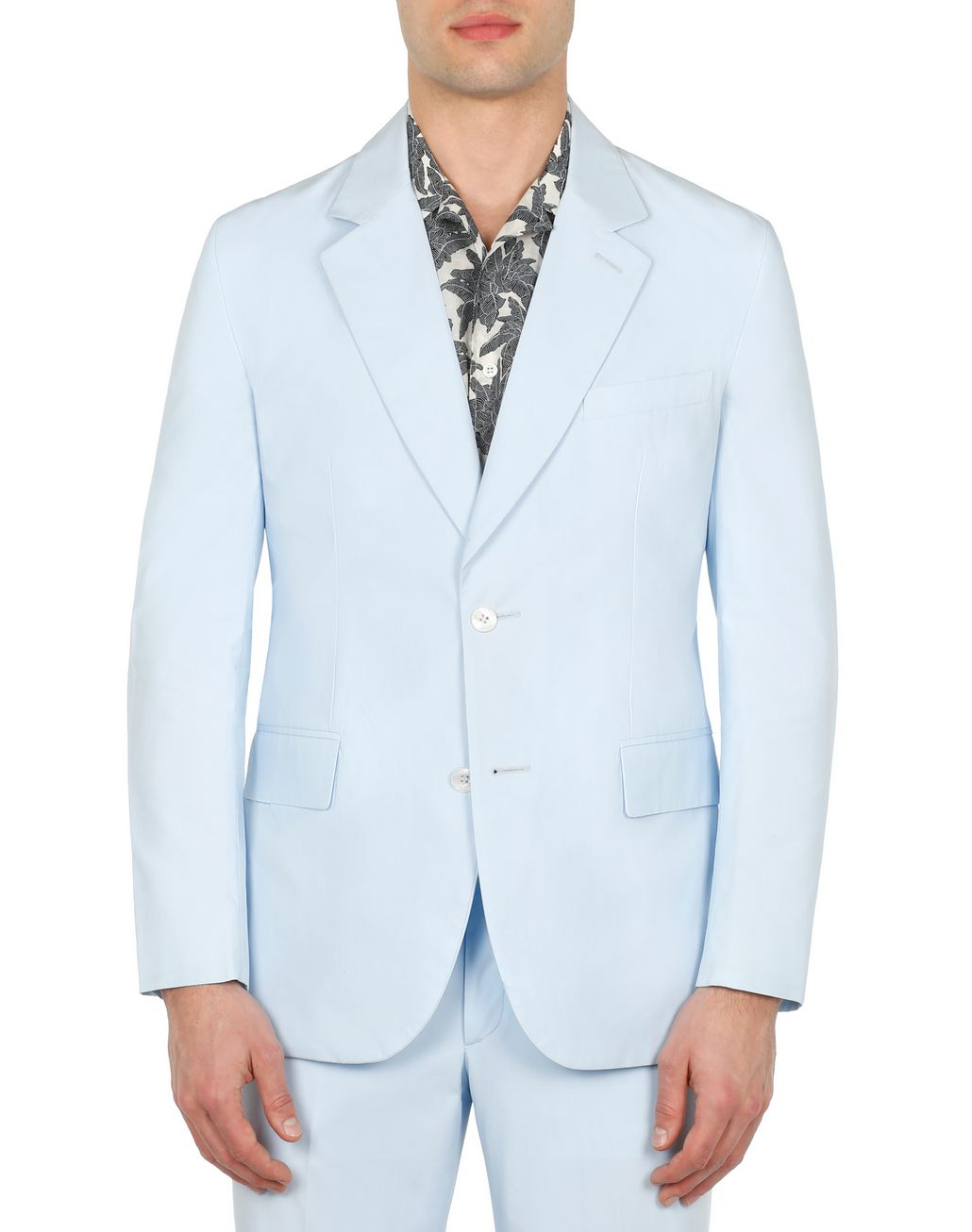 BRIONI Light Blue Decostructed Jacket Jackets Man r