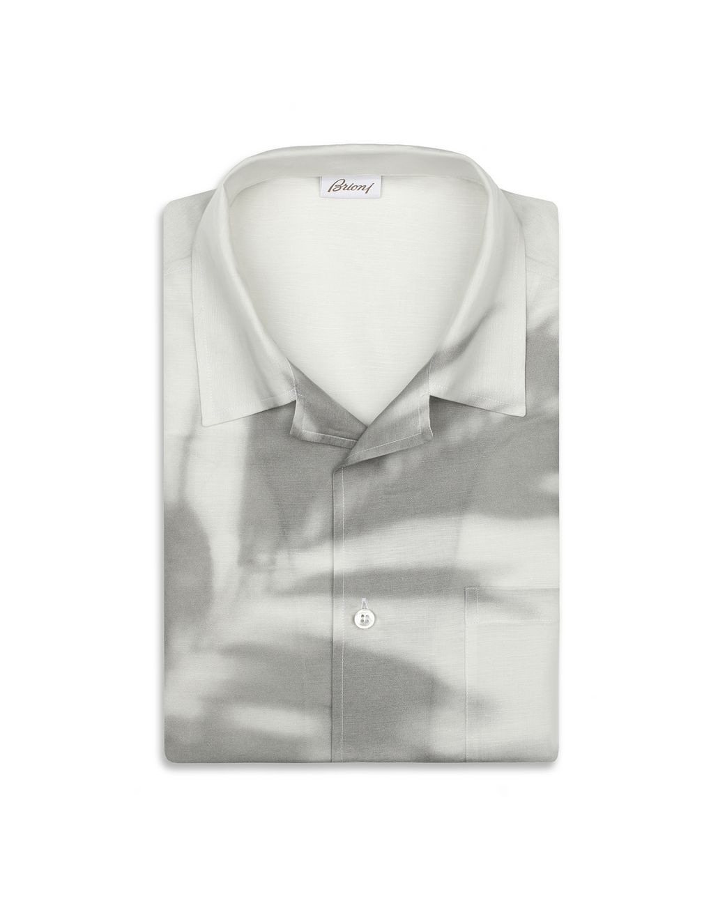 BRIONI Grey Short Sleeves Shirt Leisure shirt Man f