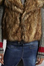 DSQUARED2 Coyote Faux Fur Vest Vest Woman
