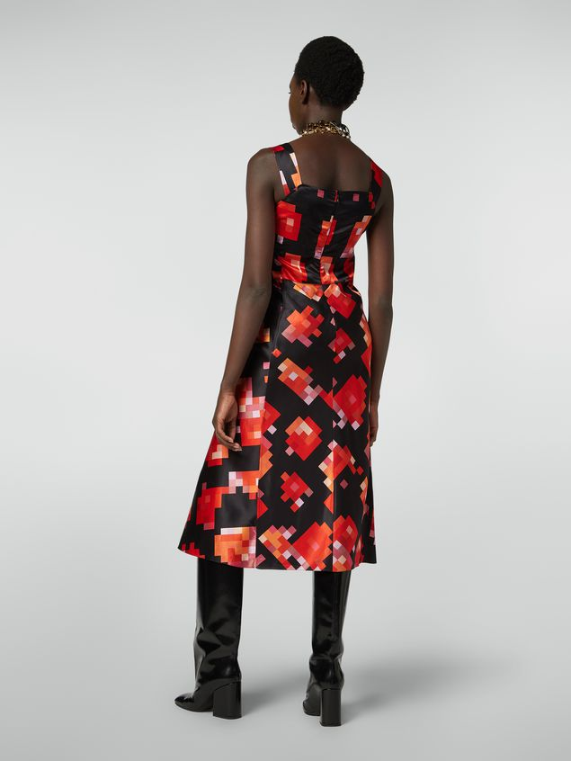 Marni Strap dress in viscose Magnete print Woman
