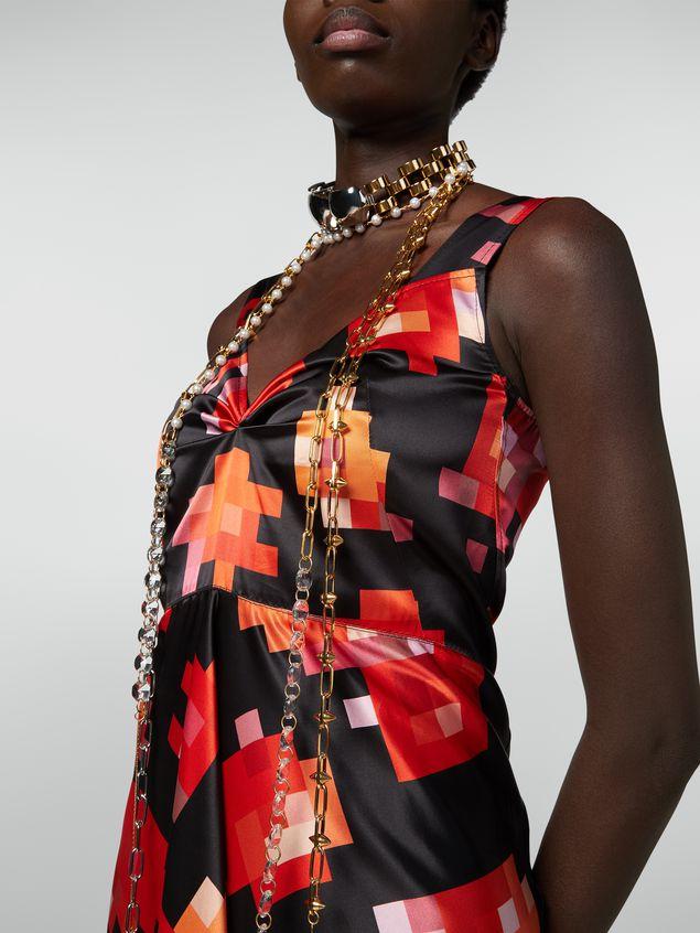 Marni Strap dress in viscose Magnete print Woman - 4