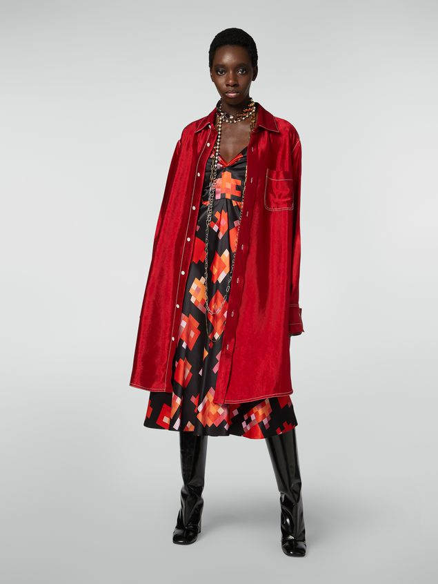 Marni Strap dress in viscose Magnete print Woman - 1
