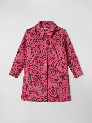 Marni NYLON-TWILL HOODED JACKET WITH HOP PRINT  Woman f