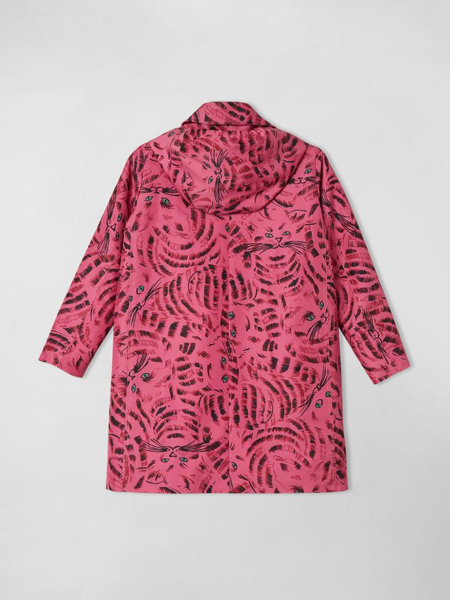 Marni HOODED JACKET IN NYLON TWILL WITH HOP PRINT  Woman