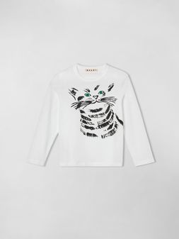 Marni T-SHIRT IN JERSEY WITH JOE PRINT  Woman