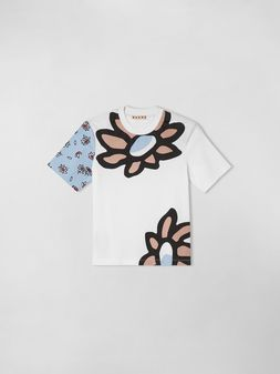 Marni T-SHIRT IN JERSY WITH PETALS PRINT  Woman