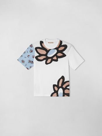 Marni T-SHIRT IN JERSY WITH PETALS PRINT  Woman f