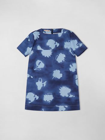 Marni SHORT SLEEVE COTTON DRILL DRESS, HAPPY PRINT Woman f