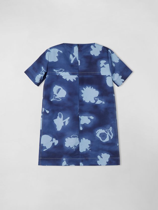 Marni SHORT-SLEEVE COTTON-DRILL DRESS WITH HAPPY PRINT Woman - 2
