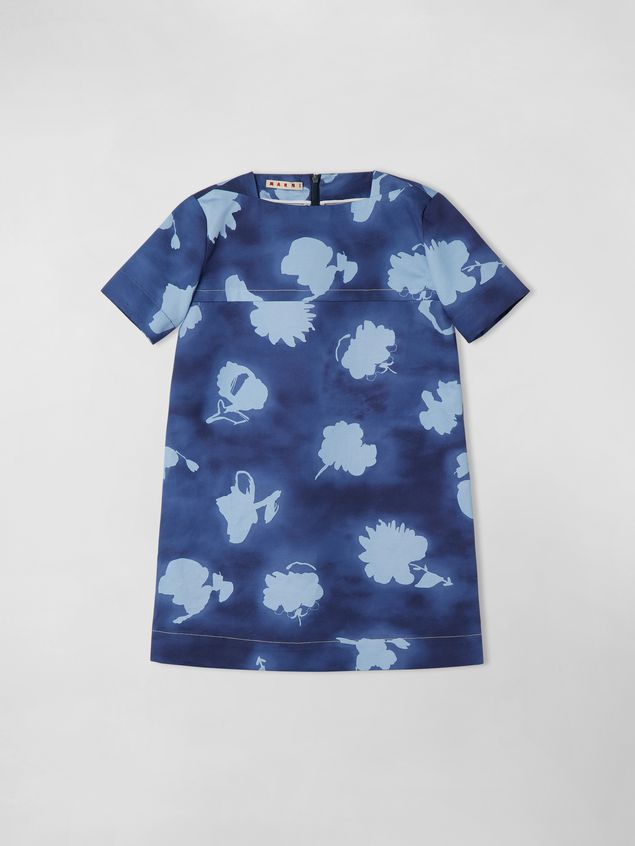 Marni SHORT-SLEEVE COTTON-DRILL DRESS WITH HAPPY PRINT Woman - 1