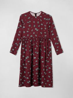 Marni VISCOSE CREPE DRESS PETALS PRINT Woman