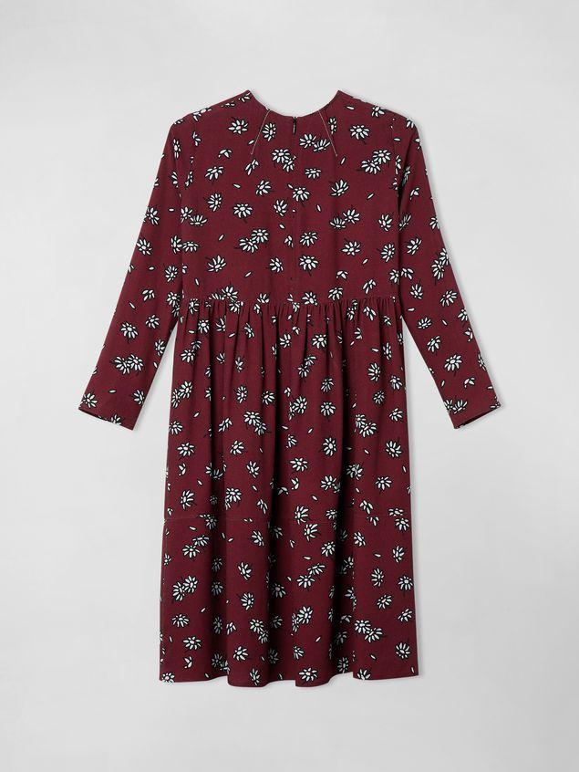 Marni VISCOSE CREPE DRESS WITH PETALS PRINT Woman