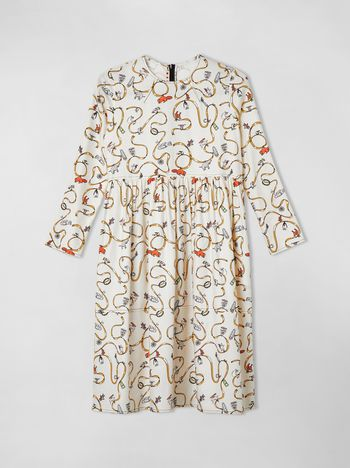 Marni COTTON-TWILL DRESS WITH CRACKER JACKS PRINT   Woman
