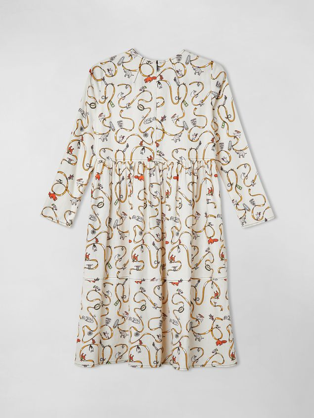 Marni COTTON TWILL DRESS CRACKER JACKS PRINT  Woman