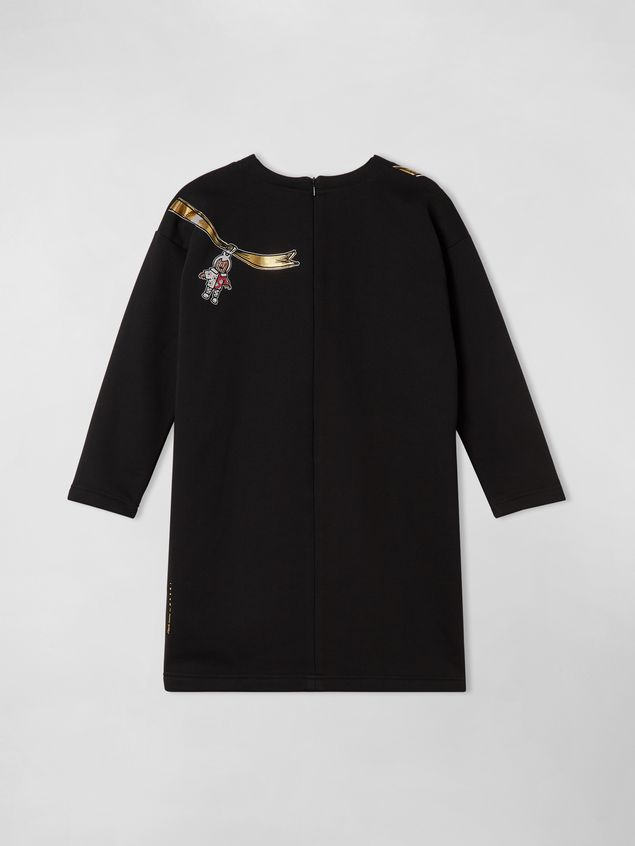 Marni LONG SLEEVES COTTON FLEECE DRESS CRACKER JACKS PRINT Woman