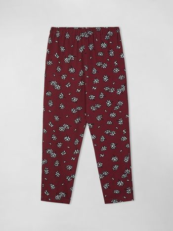 Marni VISCOSE CREPE PANTS WITH PETALS PRINT  Woman f