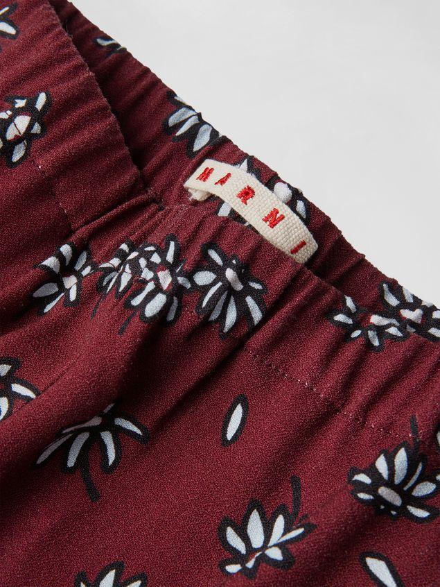 Marni VISCOSE CREPE PANTS WITH PETALS PRINT  Woman