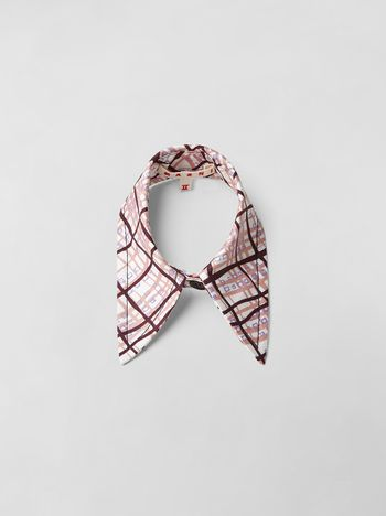 Marni TARTAN PRINT COTTON COLLAR  Woman f