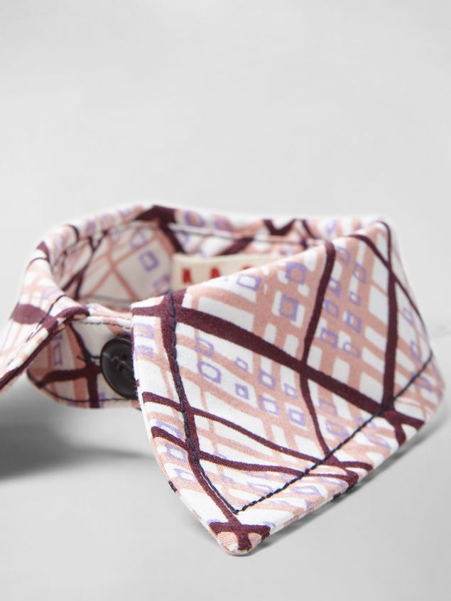 Marni TARTAN PRINT COTTON COLLAR  Woman - 3