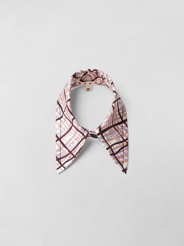 Marni TARTAN PRINT COTTON COLLAR  Woman - 1