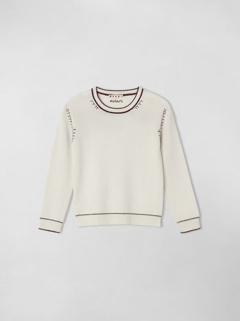 Marni EMBROIDERED WOOL AND CASHMERE SWEATER Woman f