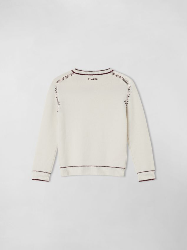 Marni EMBROIDERED WOOL AND CASHMERE SWEATER Woman - 2