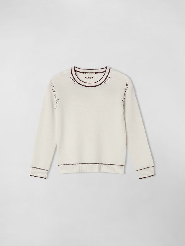 Marni EMBROIDERED WOOL AND CASHMERE SWEATER Woman - 1