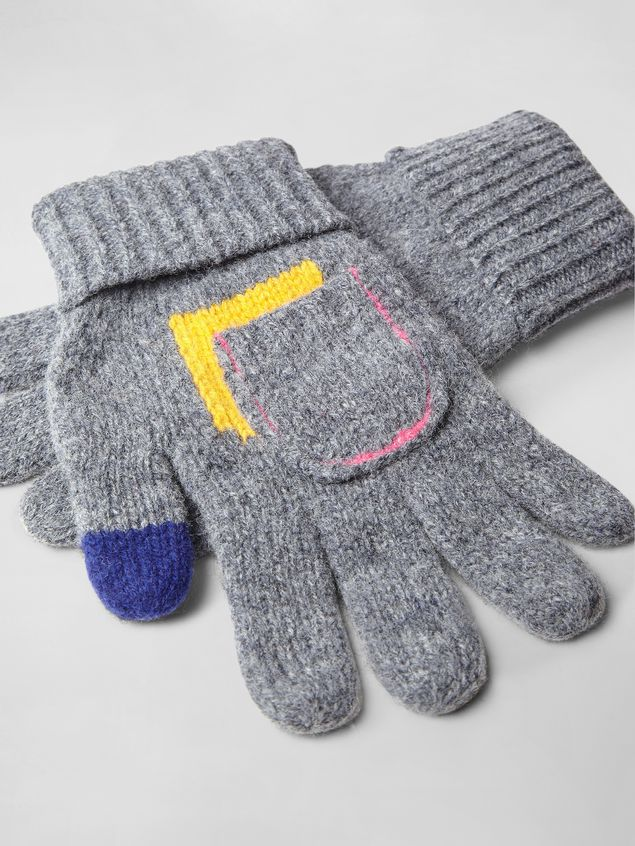 Marni COLOR-BLOCK WOOL GLOVES   Woman - 2