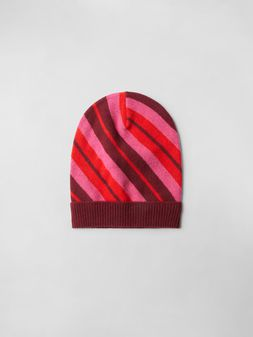 Marni STRIPED WOOL CAP Woman