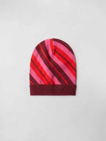 Marni STRIPED WOOL HAT  Woman f
